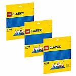 Lego® Classic 10714 Blaue Bauplatte 3er-Sparset