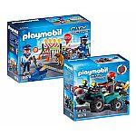 PLAYMOBIL® Set: 6878 Strassensperre & 6879 Ganoven-Quad