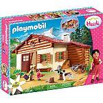 PLAYMOBIL® Heidi 70253 Heidi & Großvater auf der Almhütte