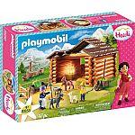 PLAYMOBIL® Heidi 70255 Peter's Ziegenstall