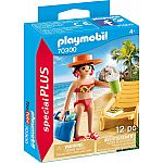 PLAYMOBIL® Special Plus 70300 Urlauberin mit Liegestuhl