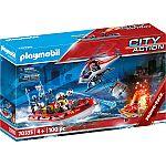 PLAYMOBIL® Feuerwehr 70335 Einsatz mit Heli & Boot