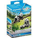 PLAYMOBIL® 70353 zwei Pandas mit Baby
