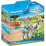 PLAYMOBIL® 70356 zwei Zebras mit Baby