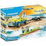 PLAYMOBIL® Playmo Beach Hotel 70436 Strandauto mit Kanuanhänger