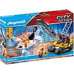 PLAYMOBIL® Grossbaustelle 70442 Seilbagger mit Bauteil