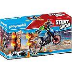 PLAYMOBIL® Stuntshow 70553 Motorrad mit Feuerwand