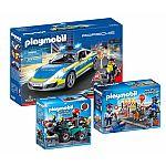 PLAYMOBIL® Set Straßensperre: 70067 Porsche 911 Carrera 4S Polizei & 6878 Strassensperre & 6879 Gano