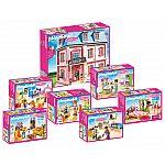 PLAYMOBIL® Großes Puppenhaus Komplettset 7-teilig