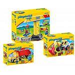 PLAYMOBIL® 1-2-3 - 3er-Set Baustelle 70125 Schaufelbagger + 70126 Kipplaster + 70165 Baukran