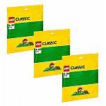Lego® Classic 10700 Grüne Bauplatte - 3er-Sparset